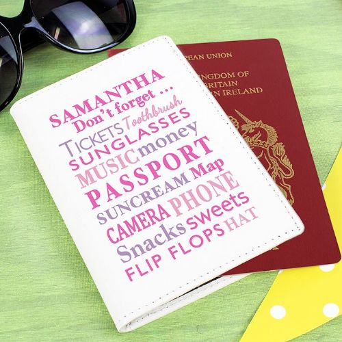 Personalised Dont Forget Pink Passport